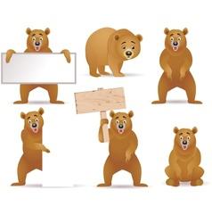 bear cartoon collection vector image vector image