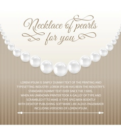 Card from necklace vector image