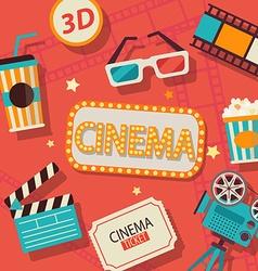 Concept of cinema vector image