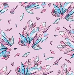 seamless background of diamonds vector image