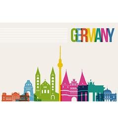Travel Germany destination landmarks skyline vector image vector image