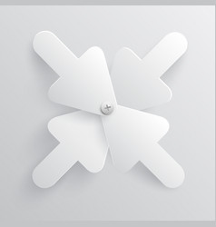 white arrows vector image