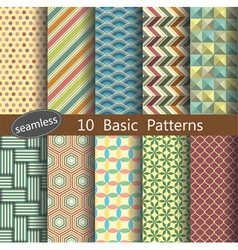 basic pattern unit collection 1 vector image