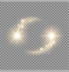 glittering star dust circle of lights golden color vector image vector image