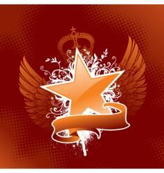 heraldic star vector image