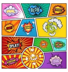 Noise Effects Comics Page vector image vector image