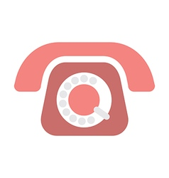 Old phone on white vector