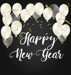 2018 happy new year ballon vector image