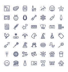 49 new icons vector