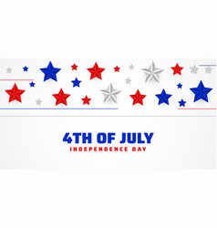 4th july happy independence day stars vector image
