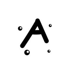 A hand drawn alphabet design template vector