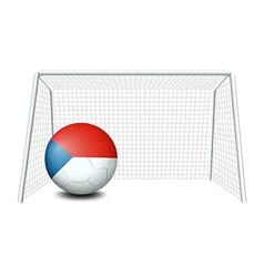 A soccer ball with the CzechRepublic flag vector