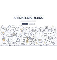 Affiliate Marketing Doodle Concept vector
