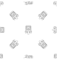 Auto rickshaw icon outline style vector