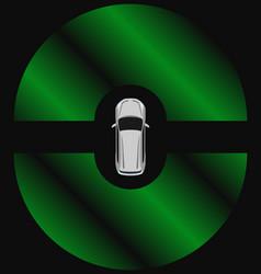autonomous car top view self driving vehicle vector image