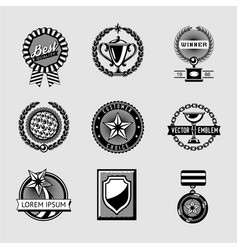 awards badge vintage set collection of vector image