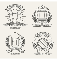 Beer line logo vector