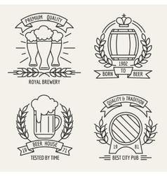 Beer line logo vector image