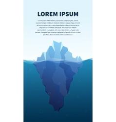 Big iceberg in the sea concept vector