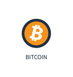 Bitcoin cryptocurrency icon vector