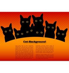 black cats vector image