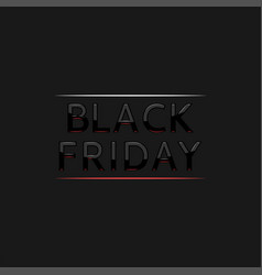 black friday text logo in frame elegant vector image