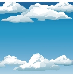 Blue sky clouds background design vector