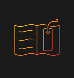 Bookmark gradient icon for dark theme vector