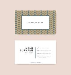 Botanical floral business card vector