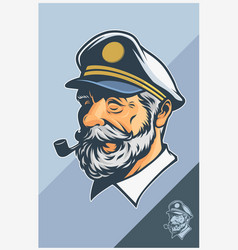 captain mascot design vector image