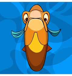 cartoon orange fish snout vector image