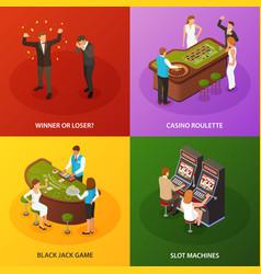 casino isometric concept design vector image
