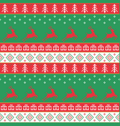 Christmas and happy new year pattern seamless vector