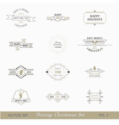 Christmas Calligraphic Design Elements Set vector