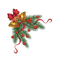 christmas holidays border or frame part realistic vector image