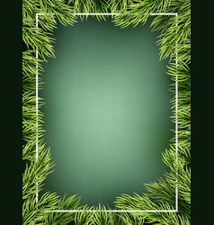 christmas tree branches frame template eps 10 vector image