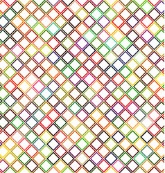 Colorful abstract diagonal square pattern design vector image