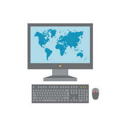 computer pc - concept icon in flat graphic design vector image