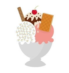 delicious ice cream cup vector image