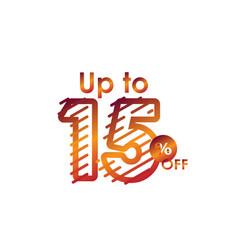 Discount up to 15 off label sale line gradient vector