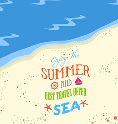 Enjoy the summer on the beach vector