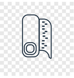 fabric concept linear icon isolated on vector image