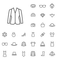 fashion outline thin flat digital icon set vector image