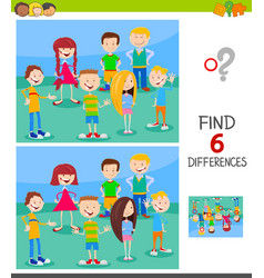 Find differences game with children group vector