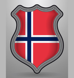 Flag of norway badge and icon vector