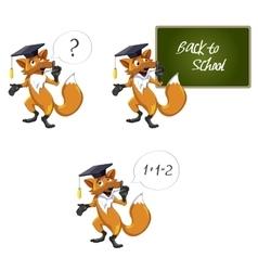 Fox teacher vector