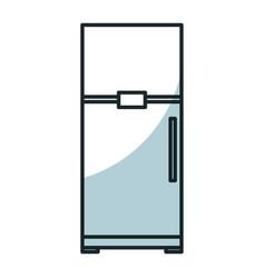 Fridge kitchen isolated icon vector