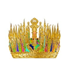 golden abstract crown vector image