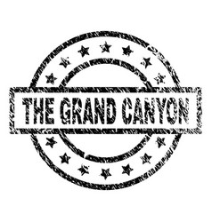 Grunge textured the grand canyon stamp seal vector