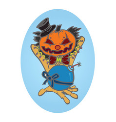 hallowen pumpkin vector image